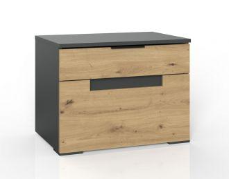 Noční stolek KOLOMAN 649 dub artisan/grafit