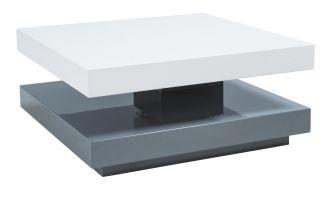 Konferenční stolek FALON rozkládací bílá/šedá