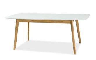 Jídelní stůl rozkládací FELICIO II bílá/dub 150