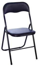 Kovová čalouněná židle TIPO černá