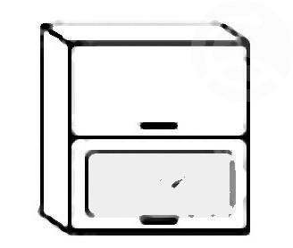W60SP horní skříňka výklopná PREMIUM de LUX olše