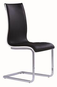 Jídelní čalouněná židle H-133 černá/bílá