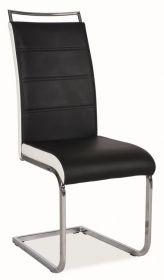 Jídelní čalouněná židle H-441 černá/bílá