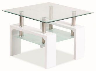 Konferenční stolek LISA D BASIC bílý