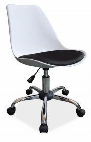 Kancelářská židle Q-777 bílá-černá