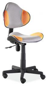 Studentská židle Q-G2 šedá/oranžová