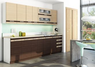 Kuchyně DARK LATTÉ BIS P260 s výklopem