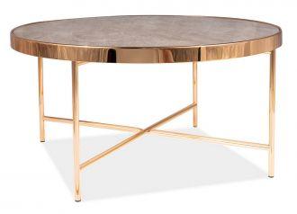 Konferenční stolek FORTUNA B mramor/zlatá