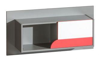závěsný regál FUTURO F9 grafit/bílá/výběr barev