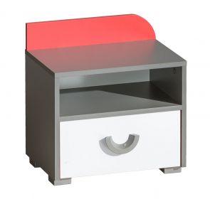 Noční stolek FUTURO F12 grafit/bílá/výběr barev
