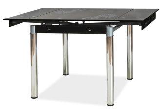 Jídelní stůl GD-082 rozkládací černý