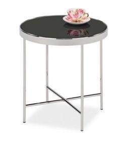 Odkládací stolek GINA C chróm