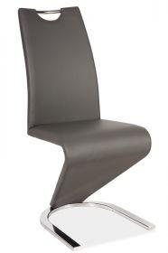 Jídelní čalouněná židle H-090 šedá/chrom