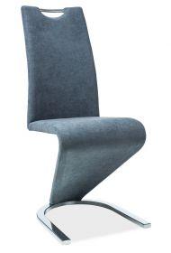 Jídelní čalouněná židle H-090 šedá grafit/chrom