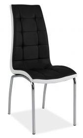 Jídelní čalouněná židle H-104 černá/bílá