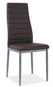 Jídelní čalouněná židle H-261 Bis hnědá/alu