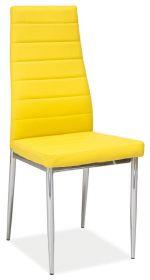 Jídelní čalouněná židle H-261 žlutá