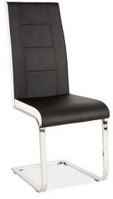 Jídelní čalouněná židle H-629 černá/bílé boky