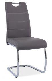 Jídelní čalouněná židle H-666 šedá