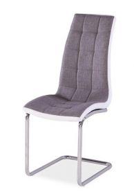 Jídelní čalouněná židle H-103 šedá/bílá