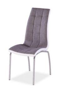 Jídelní čalouněná židle H-104 šedá/bílá