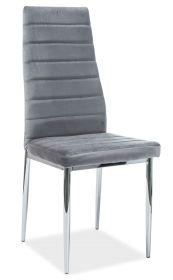 Jídelní čalouněná židle H-261 VELVET šedá