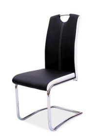 Jídelní čalouněná židle H-341 černá/bílé boky