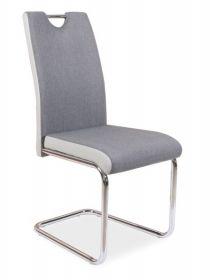 Jídelní čalouněná židle H-952 šedá/světle šedá