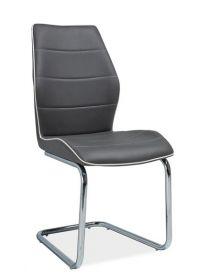 Jídelní čalouněná židle H-331 šedá