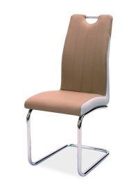 Jídelní čalouněná židle H-342 cappuccino/světlá šedá