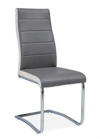 Jídelní čalouněná židle H-353 šedá/bílé boky