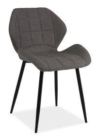 Jídelní čalouněná židle HALS šedá