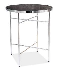 Konferenční stolek IBIZA C mramor/chróm