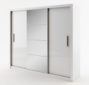 Šatní skříň IDEA II 01 bílá zrcadlo 250 cm