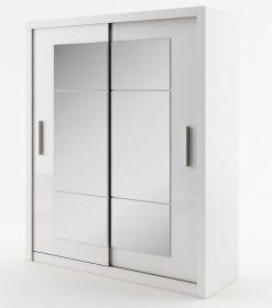 Šatní skříň IDEA II 02 bílá zrcadlo 180 cm