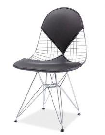 *Jídelní židle INTEL II chrom/černá