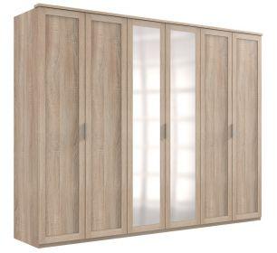 Šatní skříň 6-dveřová MARGITA 567 dub