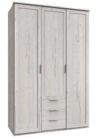 Šatní skříň 3D3S MARGITA 531 dub bílý