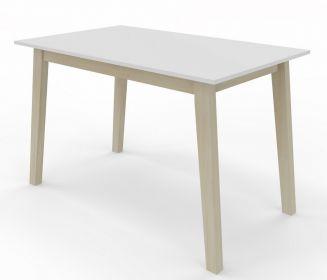 Jídelní stůl CARLOS 120x80 buk/bílá