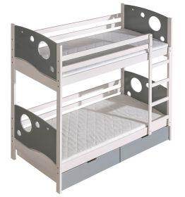 Dětská postel poschoďová KEWIN 80 cm, masiv borovice