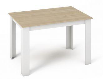 Jídelní stůl KONGO 120x80 sonoma/bílá