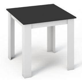 Jídelní stůl KONGO 80x80 bílá/černá