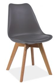 Jídelní židle KRIS šedá/dub II