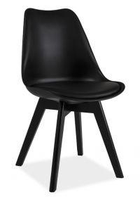 Jídelní židle KRIS II černá/černá