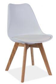 Jídelní židle KRIS bílá/dub