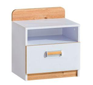 LIMO L12 noční stolek bílá/dub nash