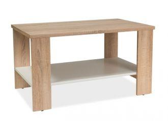 Konferenční stolek LARA dub sonoma/bílá