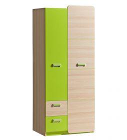 Šatní skříň LIMO L1 zelená