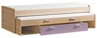 Dětská postel LIMO L16 výsuvná s úl. prostorem fialová