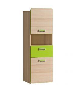Skříňka se zásuvkou LIMO L4 zelená